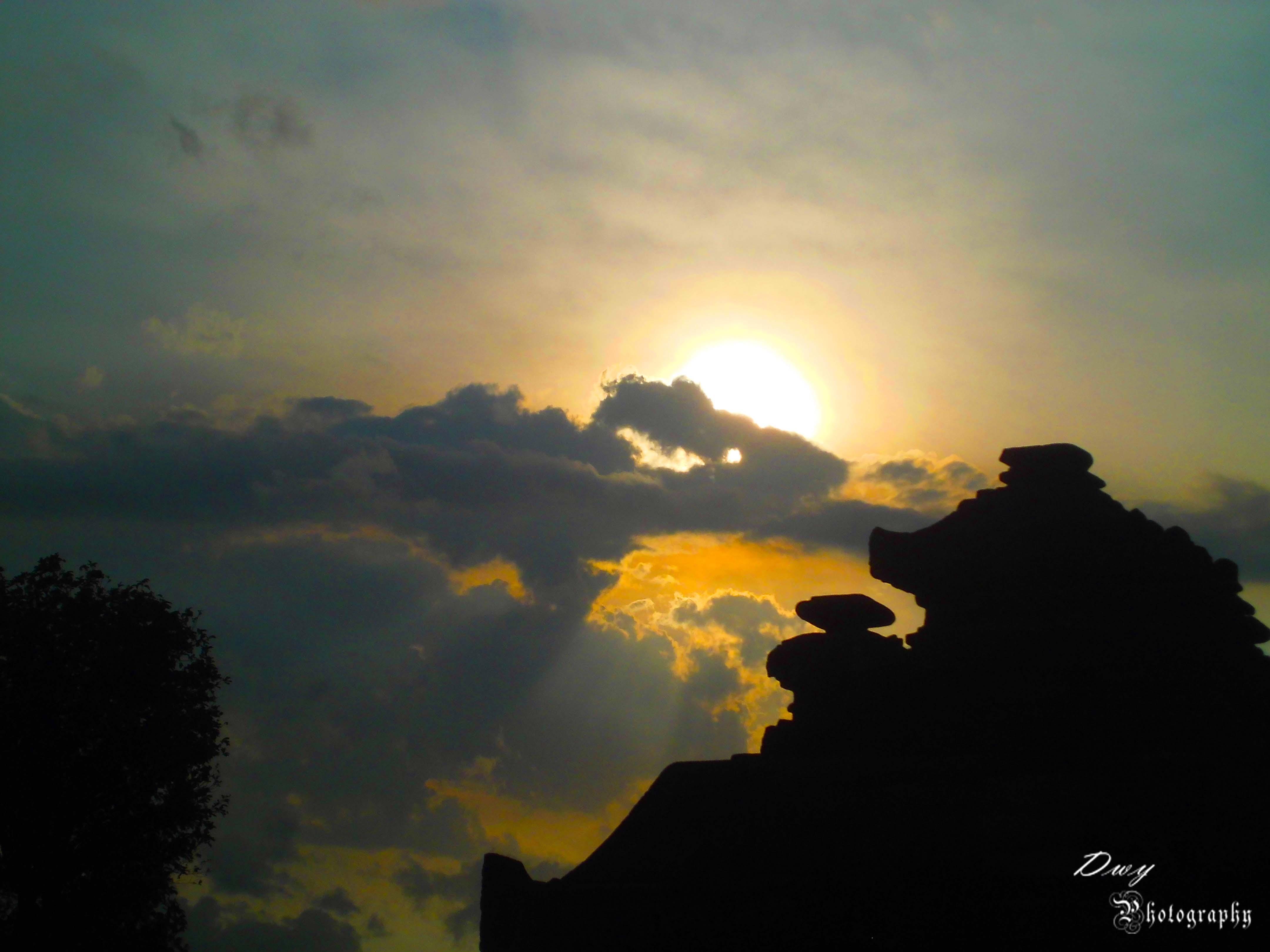 Sunset At Candi Barong Yogyakarta