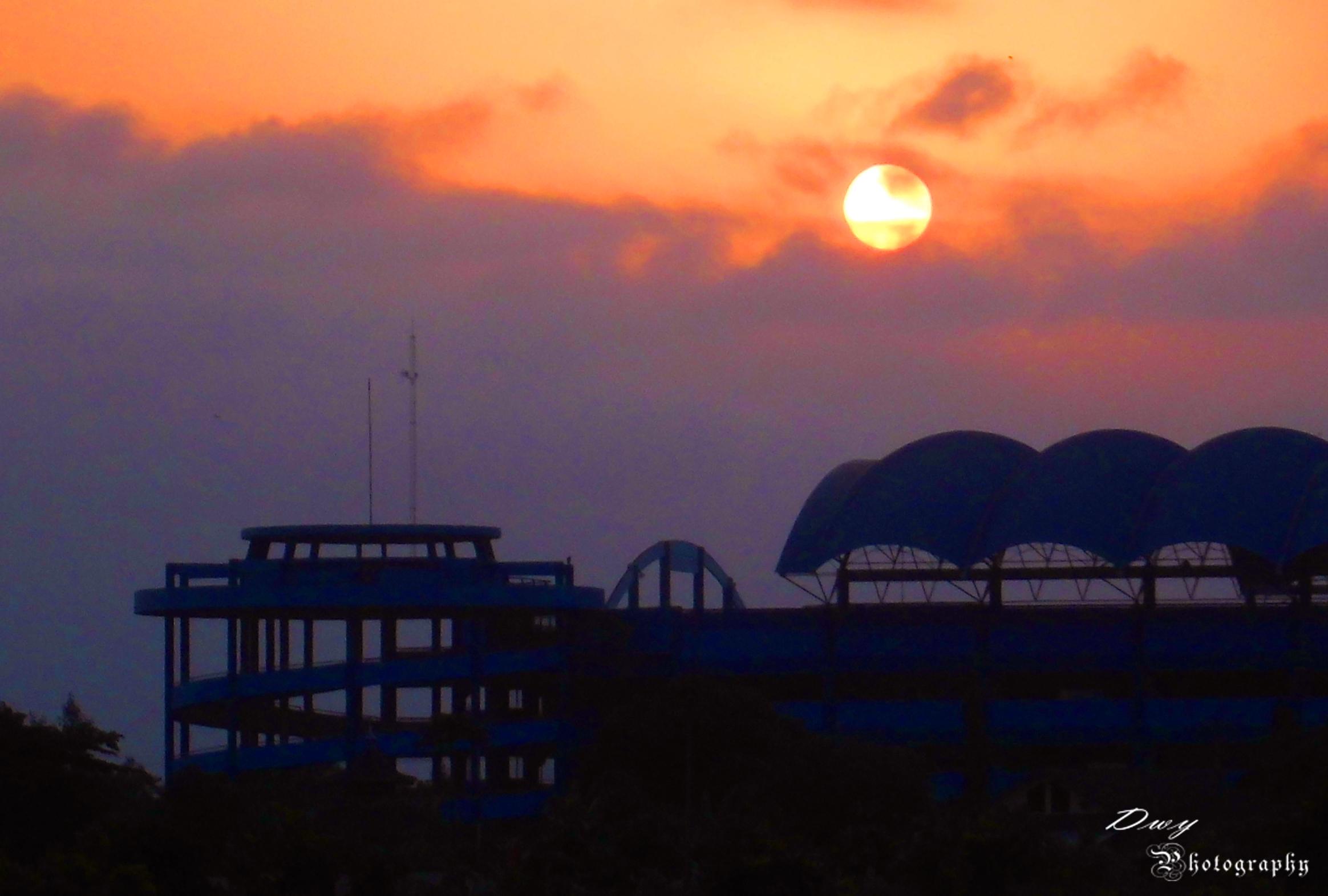 Sunset At Maguwoharjo Stadium