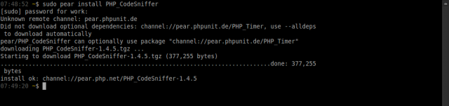 Cara install PHP code sniffers